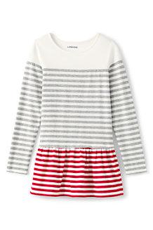 Gestreiftes Colorblock Leggingsshirt für Mädchen