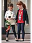 Sweatshirt mit Glitzer und Plüschfront für kleine Mädchen