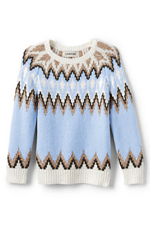 Girls' Long Sleeve Fairisle Crewneck Jumper