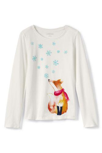 Le T-Shirt Graphique Manches Longues, Toute Petite Fille