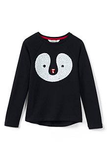 Girls' Sequin Penguin Fleece Sweatshirt