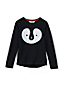 Little Girls' Sequin Penguin Fleece Sweatshirt
