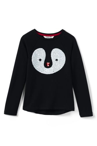 Sweatshirt mit Paillettenmotiv für kleine Mädchen