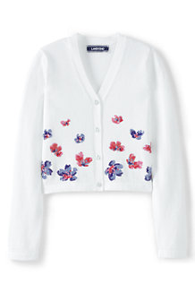 Girls' Sparkle V-neck Sophie Cardigan
