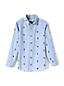 Toddler Boys' Embroidered Poplin Shirt