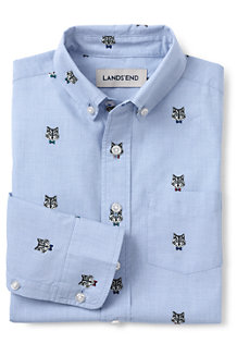 Boys' Embroidered Poplin Shirt