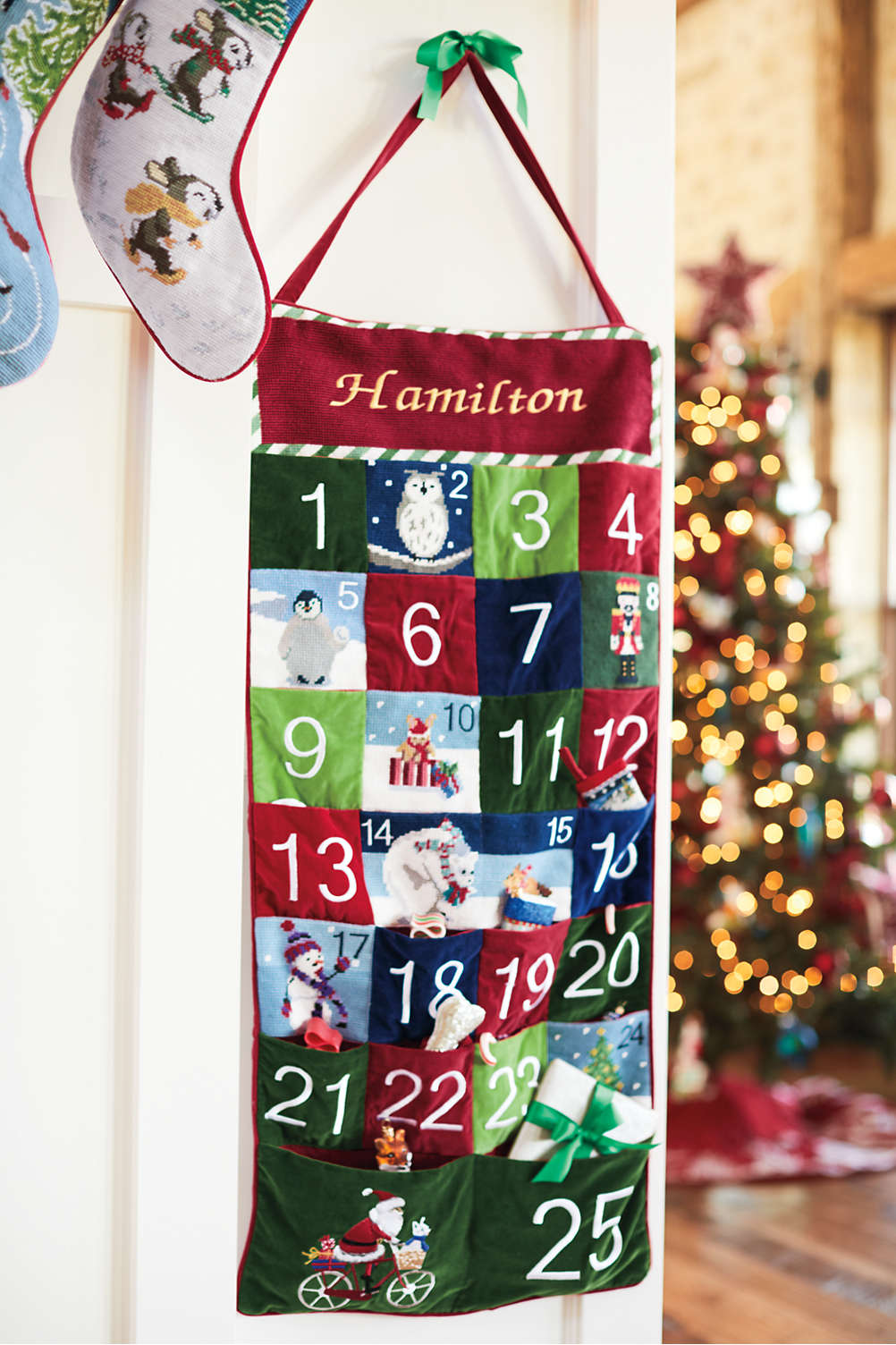 Lands End Christmas Stockings.Needlepoint Advent Calendar
