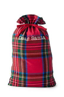 Plaid Santa Sack