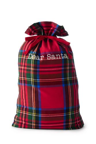 Image result for lands end plaid santa sack