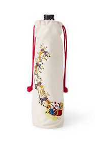 Embroidered Christmas Wine Bag