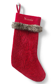 Quilted Microfleece Stocking