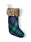 Knit Plaid Stocking