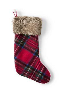 Knit Plaid Stocking