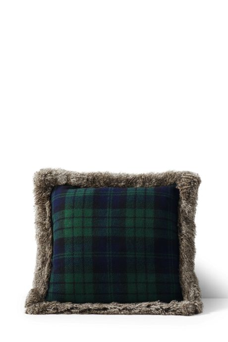 18x18 Plaid Knit Decorative Pillow