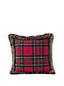 Plaid Decorative Cushion