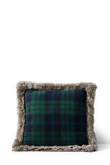 Plaid Decorative Cushion