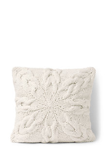 Knit Snowflake Cushion