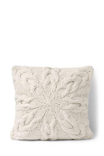Knit Snowflake Cushion