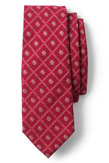 La Cravate en Laine et Soie avec Carreaux et Flocons, Homme