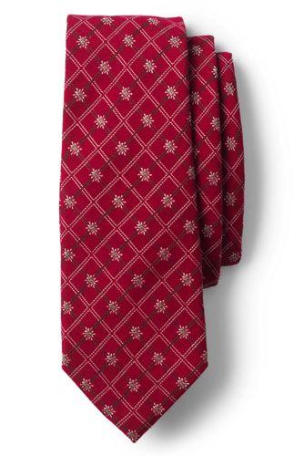 Seiden/Woll-Krawatte mit Schneeflocken-Dessin für Herren