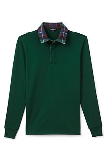 Men's Flannel Collar Rugby Shirt