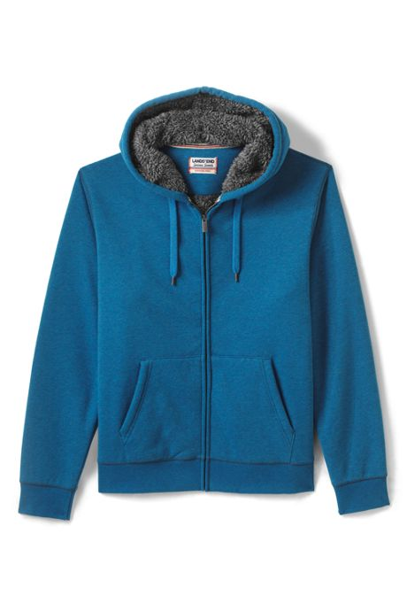 Men's Tall Serious Sweats Full Zip Sherpa Hoodie