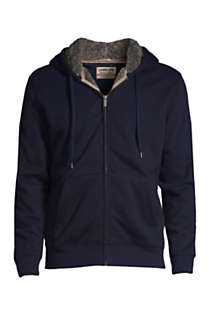 Men's Serious Sweats Full Zip Sherpa Hoodie, Front