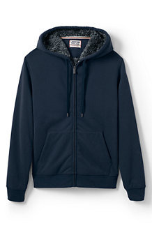 Men's Serious Sweats Sherpa Hooded Zip Jacket