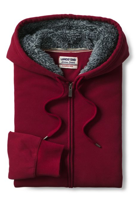 Men's Serious Sweats Full Zip Sherpa Hoodie
