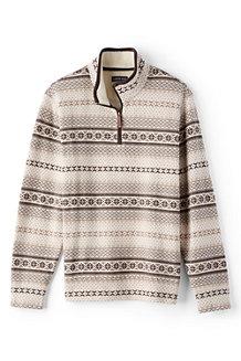 Men's Fair Isle Half-zip Pullover