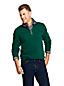 Zipper-Pullover aus Bedford-Ripp mit Flanell-Innenkragen für Herren