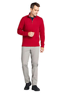 Men's Flannel Collar Bedford Rib Quarter Zip Sweater, alternative image