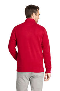 Men's Flannel Collar Bedford Rib Quarter Zip Sweater, Back