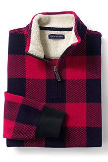 Men's Plaid Half-zip Pullover
