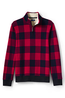 Men's Plaid Half-zip Pullover