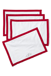 Linen/Cotton Border Place Mats – Set of 4