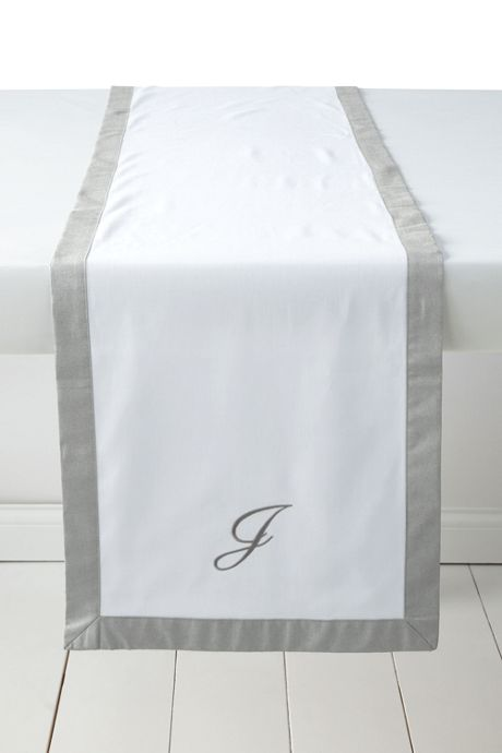 Linen Border Table Runner (16x96)