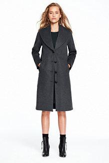 Wolle/Kaschmir-Mantel mit breitem Revers