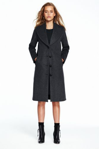 Women's Wool/Cashmere Shawl Collar Cocoon Coat