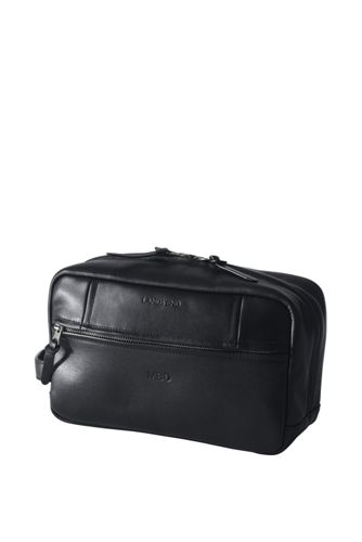 Men's Luxe Leather Wash Bag