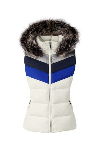 Women's Regular HyperDRY Colourblock Hooded Down Gilet