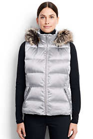 Women's Petite Hooded Down Vest