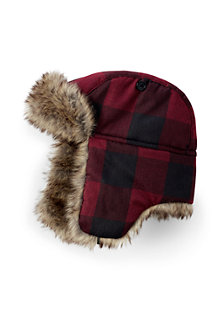 Boys Plaid Trapper Hat