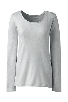 Women's  Cotton/Modal Metallic Scoop Neck Tee