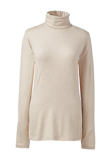 Women's Cotton/Modal Metallic Roll Neck