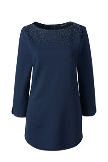 Women's Ponte Beaded Tunic