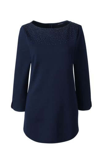Women's Regular Ponte Beaded Tunic