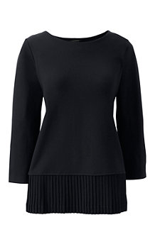 Women's Ponte Pleated Top