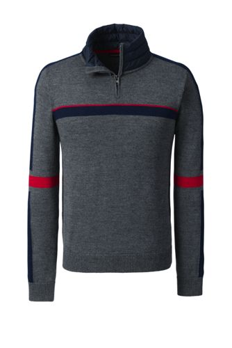 Men's Regular Merino Blend Half-zip Pullover