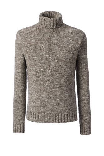 Men's Regular Wool/Alpaca Roll Neck Sweater